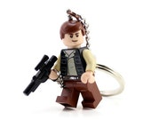 Han Solo Key Chain - made from Genuine Star Wars LEGO® Han Solo Minifig