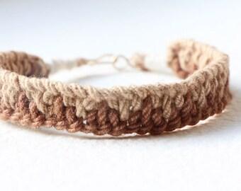 Linen Macrame Bracelet