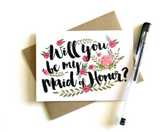 Maid of Honor Card - Will You Be My Maid of Honor, Maid of Honor Cards, Maid of Honor Gift, Be My Maid of Honor Card