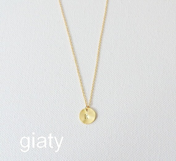 Dainty lowercase gold initial necklace tiny necklace letter for Lowercase letter necklace
