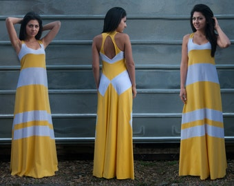 Plus Size Maxi Dress, Yellow Kaftan, Long Summer Dress, Summer Maxi Dress, Sleeveless Kaftan, Sun Dress, Boho Maxi Dress, Beach Dress