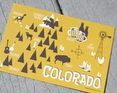 Colorado Map Postcard
