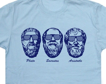 Socrates T Shirt Plato Aristotle T Shirts Three Philosophers Funny Lawyer Shirts Harvard Yale Genius Philosophy Funny Geek Saying Tees