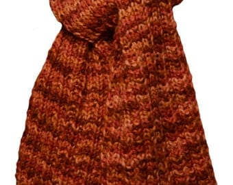 Knit Scarf - Pumpkin Paint Alpaca Trail Ridge Rib