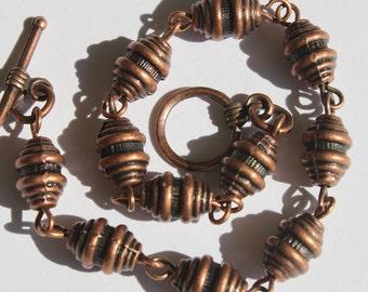 Copper Bracelet Beaded Boho Bracelet Bohemian bracelet Metal Boho Jewelry Chic Bohemian Jewelry Christmas Gift For her Gift For Women Gift
