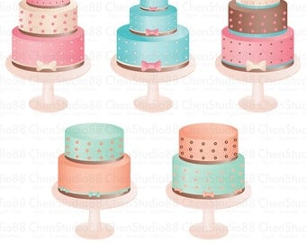 Cake vector - Digital Clipart - Instant Download - EPS, Pdf and PNG files included