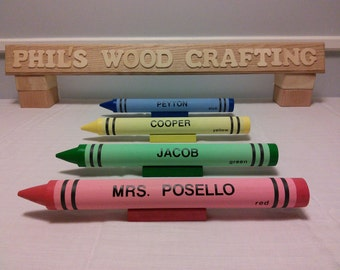 Crayon Name Plate - A Unique way to display your name
