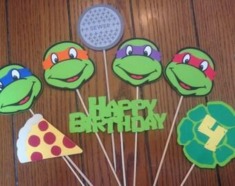 Teenage Mutant Ninja Turtle, TMNT 8 - Piece Diecut Birthday Centerpiece Set