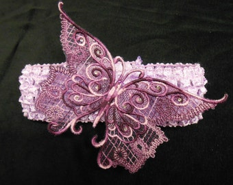 Take flight with this Butterfly headband in feminine purple.