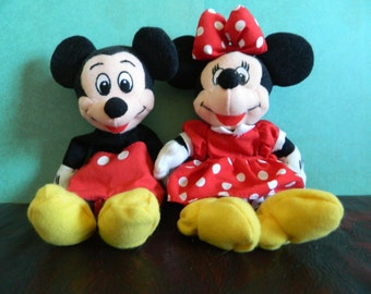 Mickey Mouse & Minnie Mouse Stuffed Animals
