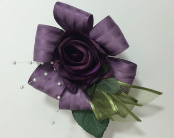 Purple Rose Corsage