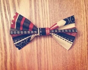 Ankara Print Bow Tie, Turtle Dove (Ties, Boys, Men, Neckwear, Unisex)