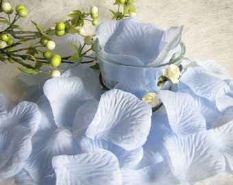 Wedding Petals, Flower Girl Petals, Basket Petals, Silk Rose Petals, Blue Petals, Wedding Decor, Table Decor, Flower Girl