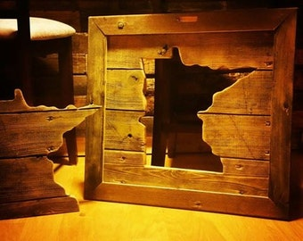 Reclaimed Wood State Cutout Home Decor Sign - Customized to Any State