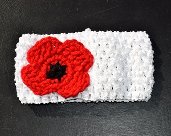 Child's Poppy Crochet Headband