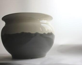 Hand painted ceramic pot