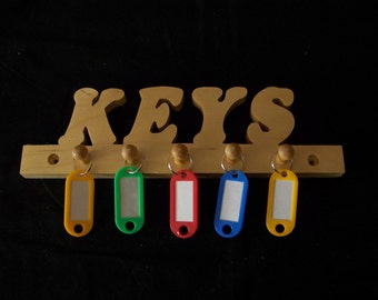 Handcrafted Wooden Key Rack