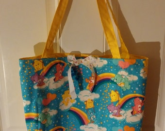 Colorful Care Bears Tote Bag