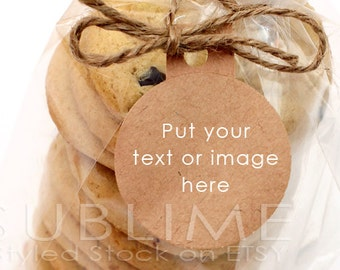 Styled Stock Photography / Blank Tag / Blank Label / Mockup / Custom Stickers / Baked Goods Label / JPEG Digital Image / StockStyle-366
