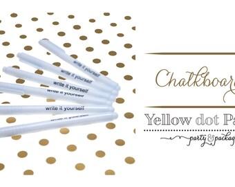Chalkboard Pen, Chalk Ink, Chalkboard, Yellow dot Paper