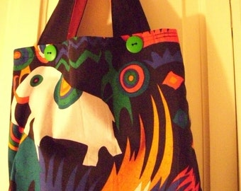 African Print Handmade Cotton Fabric Tote