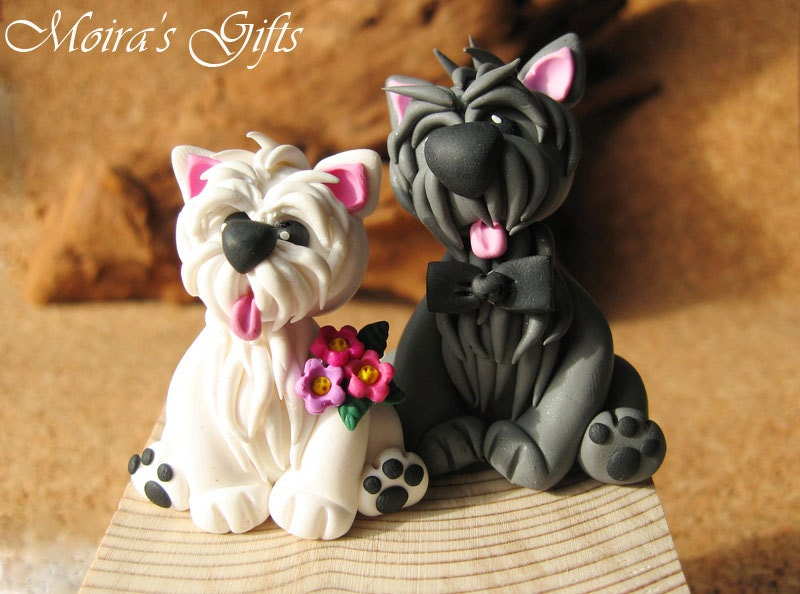 scottish terrier wedding cake toppers custom westie cake topper for birthday baby shower wedding 19692