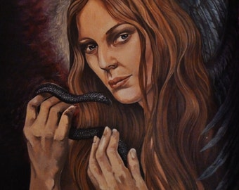 """A4 """"Lilith and the serpent"""" Mounted Print"""
