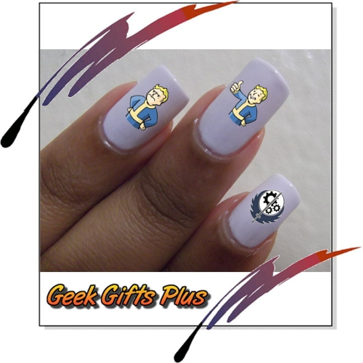 Today Live Sports: Fallout Nail Art Decals 30 Fallout Waterslide ...