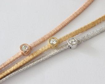 Silver bracelets, Bracelets With Zircon Gem , Gold Plated  925 Silver , Friendship Bracelet