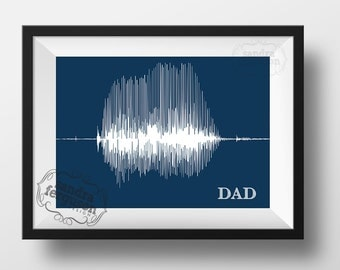 8x10 5 x7 11x 14 4x6 DAD - Voiceprint - Soundwave Printable art | birthday | father's day | christmas -  DIGITAL FILE