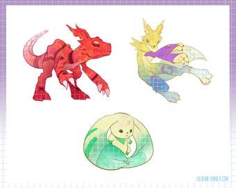 Full Digimon Sticker Set (s3)