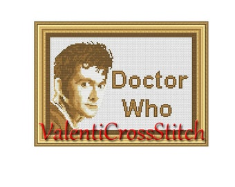 DOCTOR Who Cross stitch pattern  , PDF counted cross stitch pattern - Doctor Who -Tardis cross stitch pattern