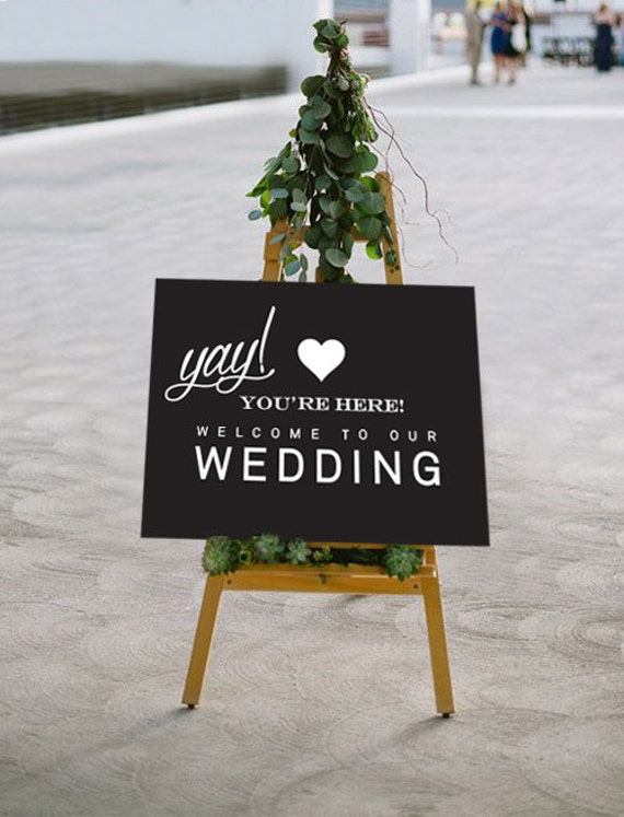 It is a graphic of Unusual Wedding Sign Printables