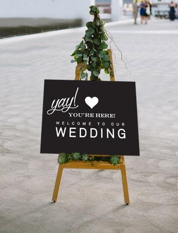 Printable Wedding Sign Wedding Welcome POSTER 3 Sizes
