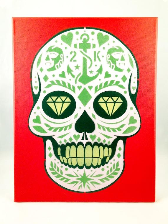 Calavera Sugar Skull Original Stencil Art by C2Kcut on Etsy