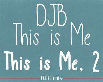 DJB This is Me Fonts (Single User Commercial License)