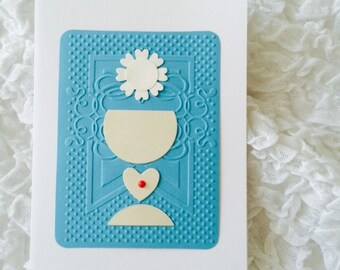 Greeting card or invitation for First Communion sacrament