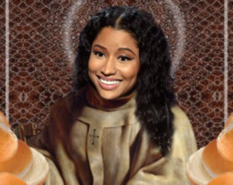 "Nicki Minaj ""My anaconda don't want none unless you got buns hun"" Digital Art (Collage) 21 x 29.7 cm 8'3x11'7 inches"