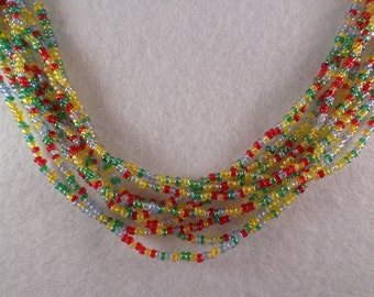Festive Seed Beads Necklace