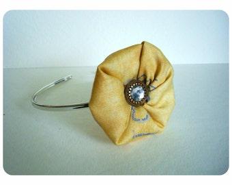 Girl's Headband. Baby Headband. Chic baby hairband. Vintage Headband. Toddler Headband. Cotton Headband. Yellow Headband
