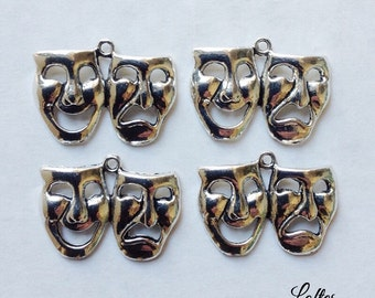 4 theatre theater mask charms - SCM100