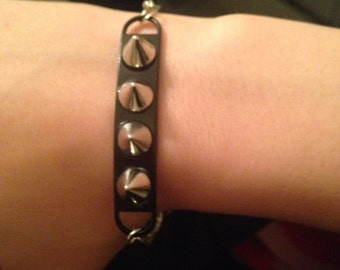 Spike and chain bracelet