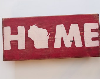 WI Home Hand Painted Sign