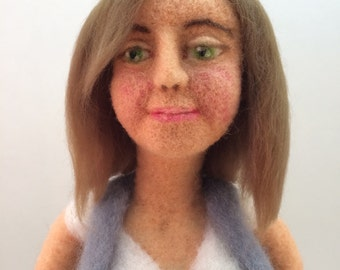 Rita, a needle felted art doll