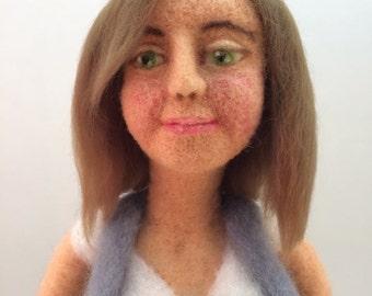 Rita, a needle felted art doll