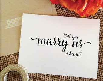 Personalized Will you marry us card (Lovely)