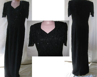 Long black gown#1548