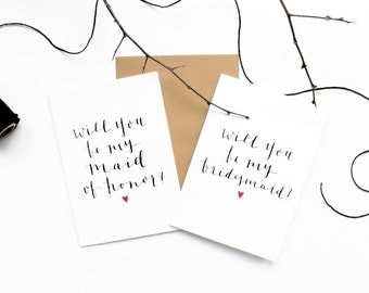 Bridal Party Greeting Cards