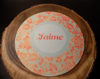 Create your own personalized  flower pattern mousepad!