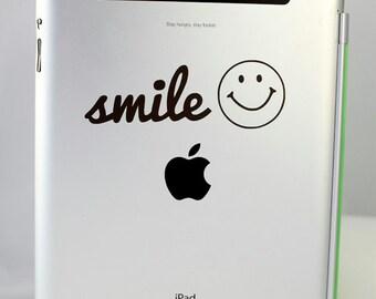 Smiley Face Sticker, Smile Decal, iPad, Macbook Pro, Car sticker